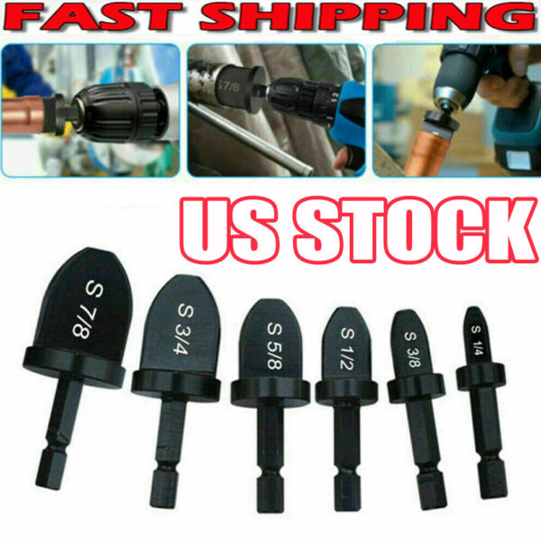 6x Swaging Tool Drill Set Air Conditioner Copper Pipe Flaring Tube Expander ZO $14.36