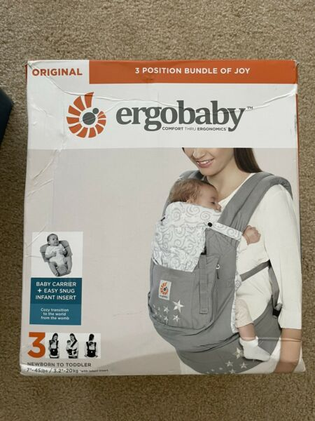 BRAND NEW Ergo baby carrier 3 Position With Infant Insert Bundle of Joy $70.00
