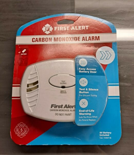 First Alert Carbon Monoxide Alarm Battery Operated 9V Included New $19.99