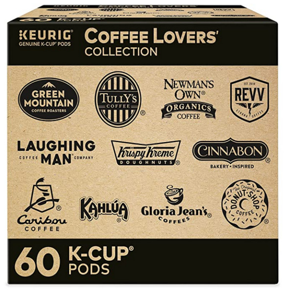 Keurig Coffee Lovers Collection Variety Pack 60 Count Single Serve K Cup Pods