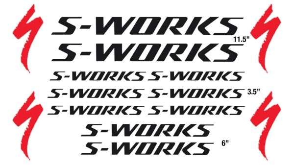 S Works Decal Specialized Bike Replacement Sticker 10 PACK S WORKS Bike Sticker $14.88