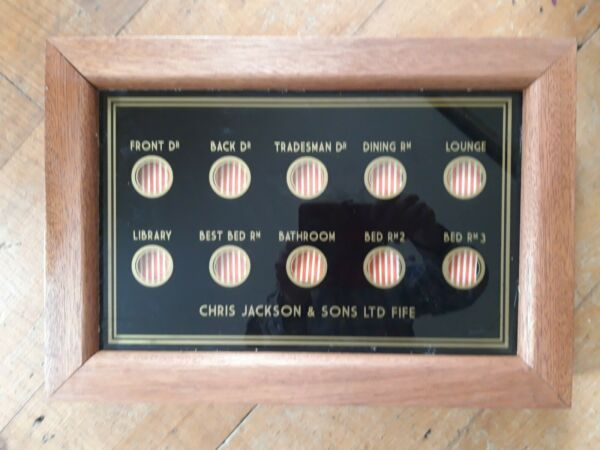 butlers and servants bell indicator box