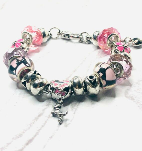 Love My Dog Silver Plated European Charm Bracelet 6.0 to 7.0 DOG611 $21.95