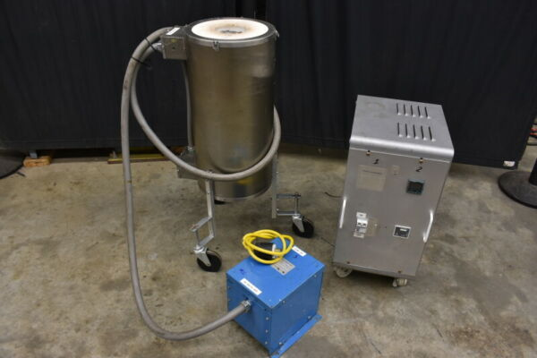 THERMCRAFT 1300 DEG C Vertical Tube 4x24quot; Furnace and controller $1750.00