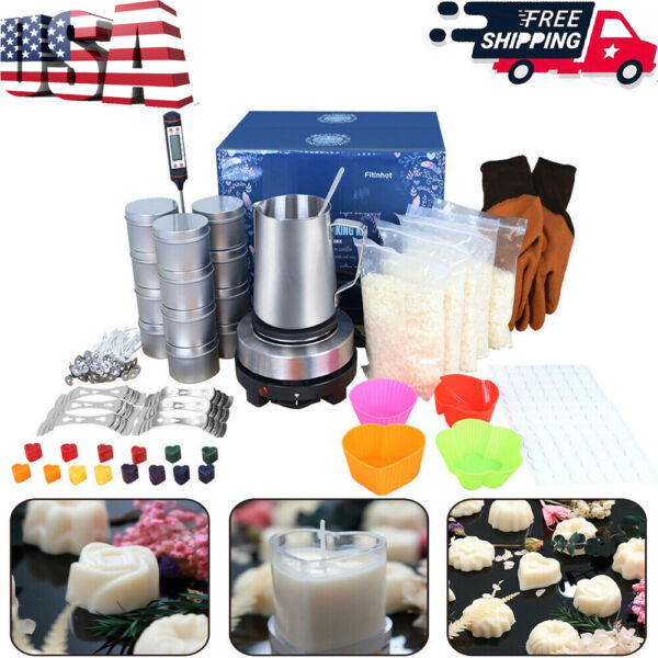 6.5L Wax Melter Electric Melting Machine 900ML Pouring Pot Candles Making Kit $22.39