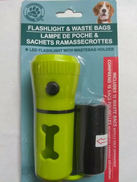 Pet Waste Dispenser Led Flashlight Disposable Poop Bags for Dogs with Belt Clip $8.50