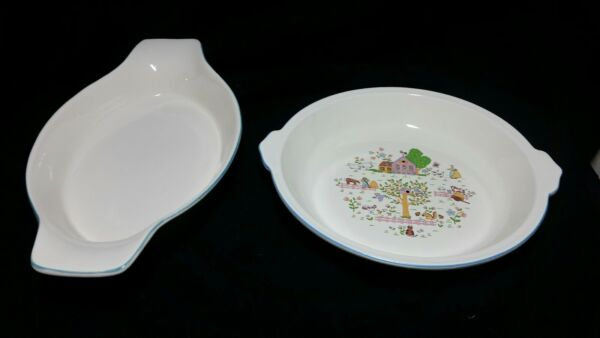 Country House Pie And Au Gratin Ceramic Dishes $12.50