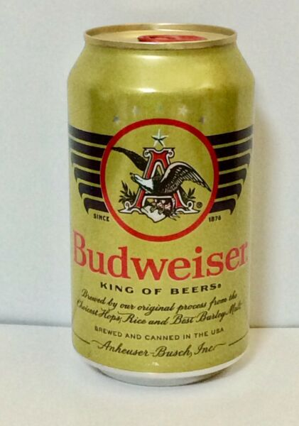 BUDWEISER 12 OZ BEER CAN 2021 MILITARY HERITAGE *EMPTY CAN*