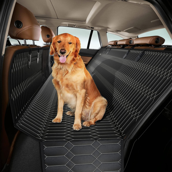 Magnelex Dog Car Seat Cover – Dog Hammock with Mesh Window for Cars Trucks amp; $47.74