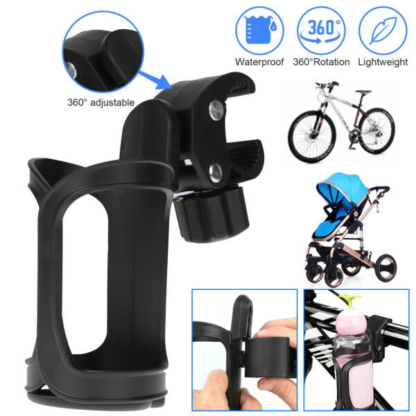 360° Rotate Bike Bottle Cage Bicycle Handlebar Drink Water Cup Holder Mount Rack $7.98