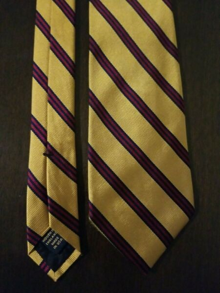 Brooks Brothers Gold Red And Blue Rep Stripe Tie $10.99