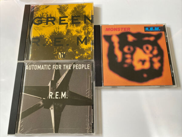 R.E.M. REM 3 CD Lot Monster amp; Green amp; Automatic for the people N MINT discs $15.99