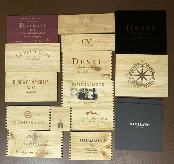 Lot of 15 Wooden Wine Wood Panels Box Crate Free Shipping Lot 90