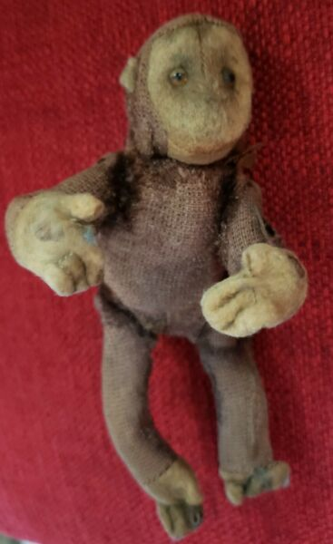 VERY REAR VINTAGE 1930s 5in. MINIATURE MONKEY BRAND UNKNOWN ARMS amp; LEGS MOVE $165.00