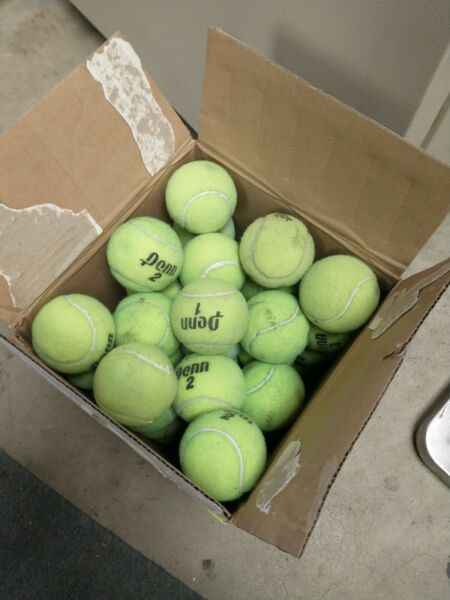 48 Used Tennis Balls mixed brands. Various Condition Used outdoor $29.99