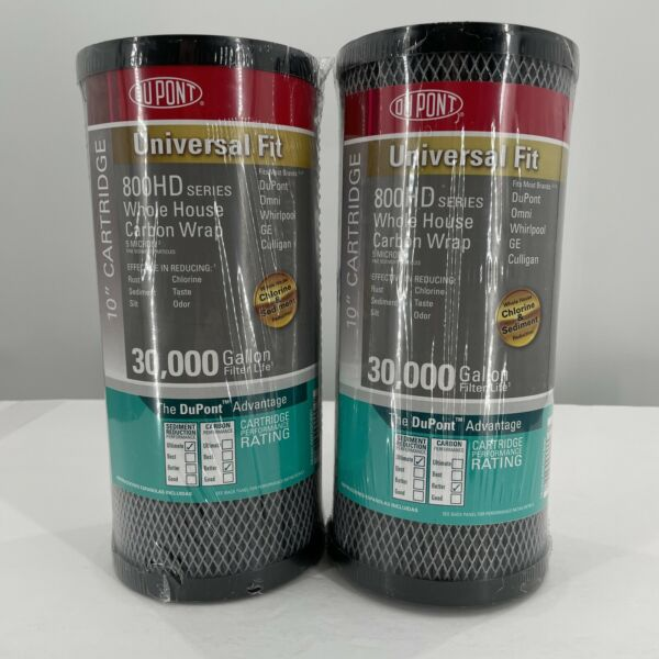2 Pack DuPont WFHDC8001 Carbon Wrap 2 Phase Water Filter Cartridge 10quot; 5 Micron $34.95