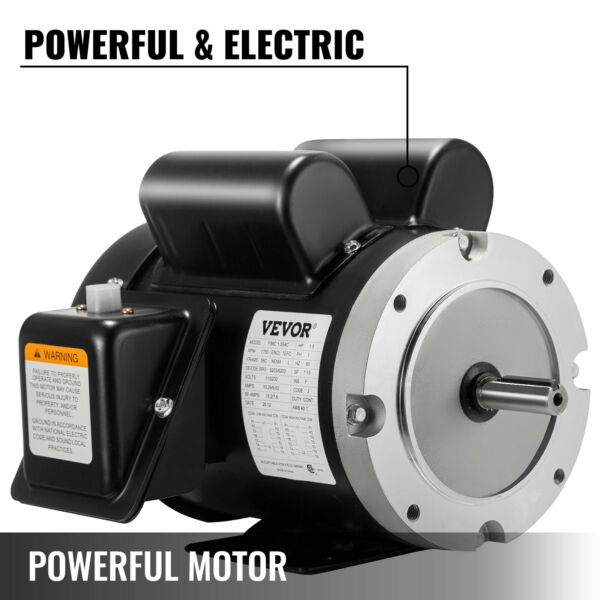 1.5HP General Electric Motor 56C 1Phase 1750RPM 5 8quot; Shaft Flange Face $154.49