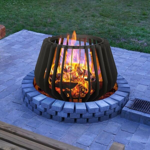 Fire Pit Stove Metal Backyard Patio Garden Decorated Outdoor Wood Burning $147.29