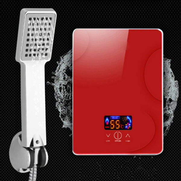 6500W Instant Electric Hot Water Heater Tankless Bathroom Kitchen w Shower IPX4 $67.05