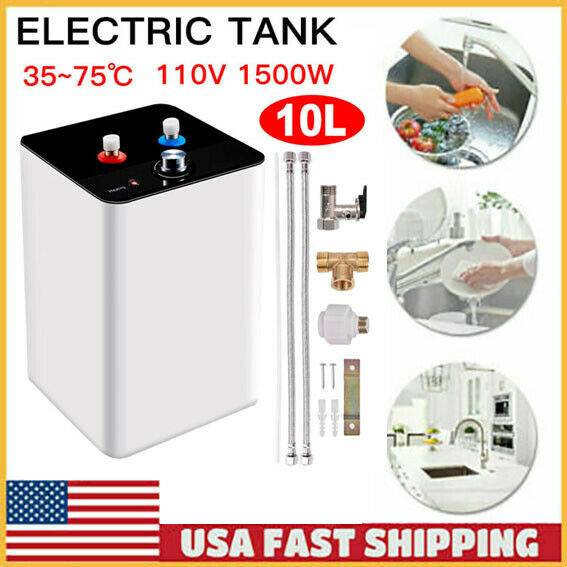 110V 10L 35℃ 75℃ Kitchen Bathroom Home Electric Tank Hot Water Heater USA $89.99