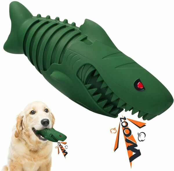 Youthor Indestructible Dog Toys for Large Dogs Aggressive ChewersSqueaky Dog... $10.99