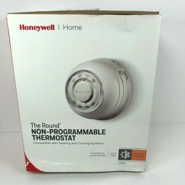 Honeywell Home CT87N Round Non Programmable Thermostat Cool Heat Manual $13.99