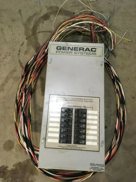 Generac 14 Circuit Pre Wired Automatic Transfer Switch $350.00