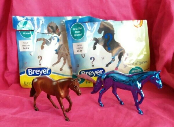 Breyer Stablemate Tractor Supply TSC Rare Chase Metallic Blue Reg. Loping QH $100.00
