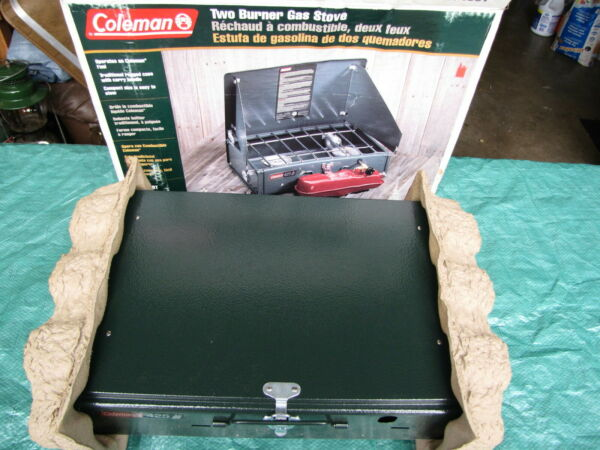 COLEMAN STOVE 425 TWO BURNER NEW IN OPENED BOX 7 99 CAMPING EMERGENCY BACKUP