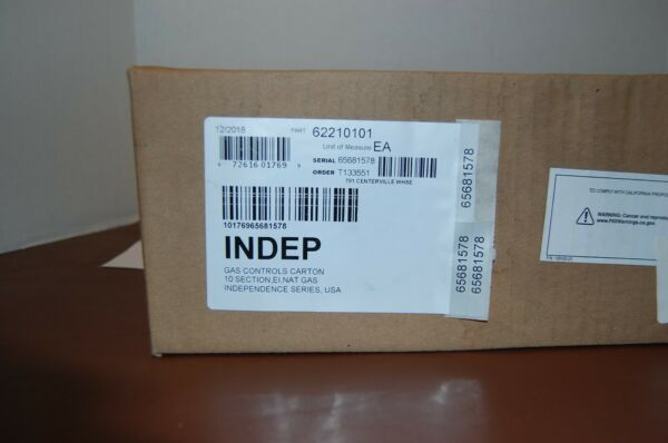 10 Section Gas Controls CTN for KD Indepence Boilers NG EI # 62210101 $750.00