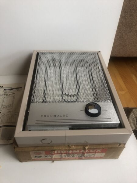 Vintage Chromalox Built in Wall Electric Heater RBH 303 240V 750 Watts New $99.99