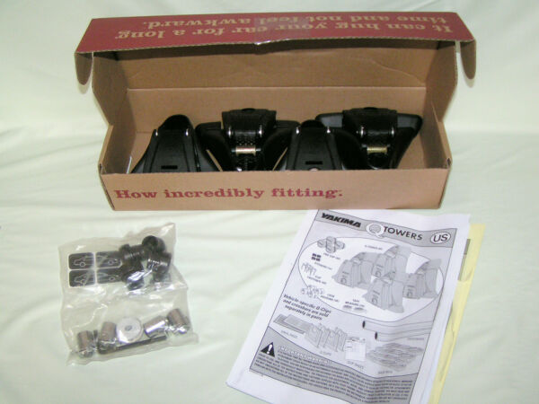 NEW Set of 4 Yakima Q Towers for Rooftop Rack System w Instructions NIB #00124 $116.99