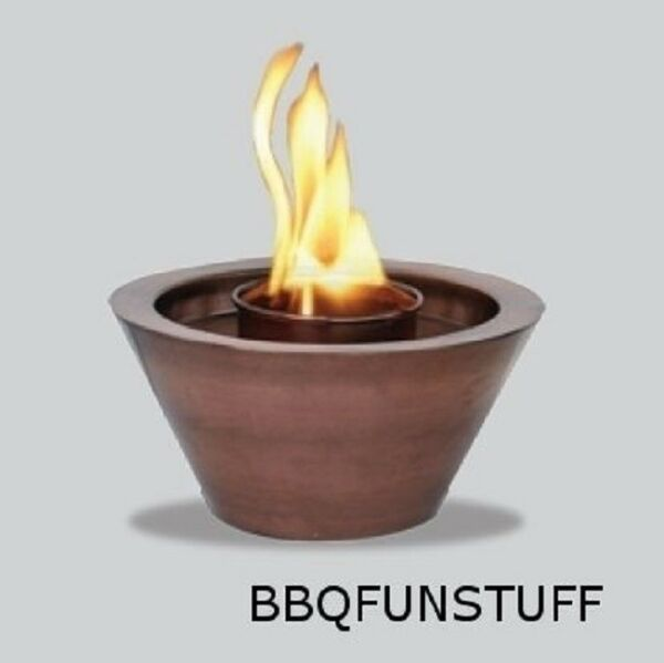 Uni Flame Fireplace Antique Copper Finish Gel Fire Bowl AAB606A AC