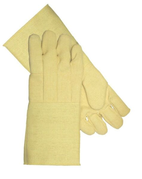 MADE WITH KEVLAR HIGH HEAT RESISTANT GLOVES FURNACE 18quot; PAIR MELTING WELDING $65.95