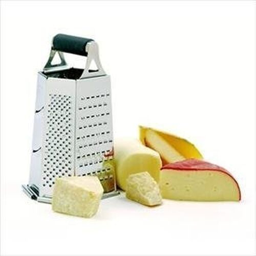 NEW NORPRO 344 EZ GRIP 6 SIDED STAINLESS GRATER CATHER