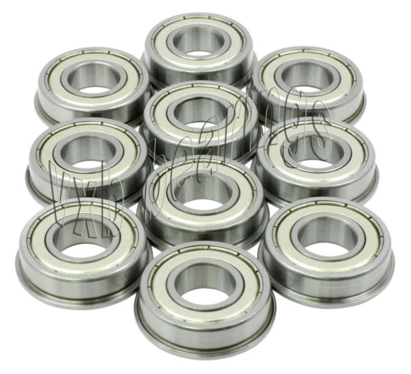 10 Flanged SFR166ZZ 3 16quot;x 3 8quot;x 1 8quot; SFR166Z Stainless inch Steel Ball Bearings