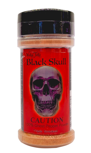 Smoked Ghost Pepper Powder Hot Spice Wicked Tickle Black Skull Chili Seasoning