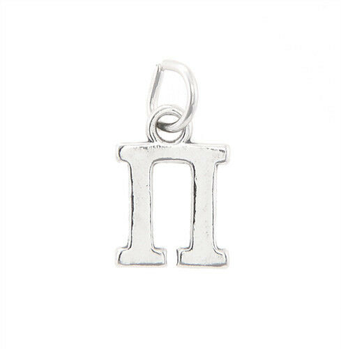 STERLING SILVER GREEK SORORITY LETTER CHARM PENDANT