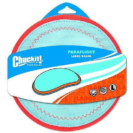 ChuckIt Paraflight Frisbee Interactive Floats in Water Fly Toss Dog Toy Large