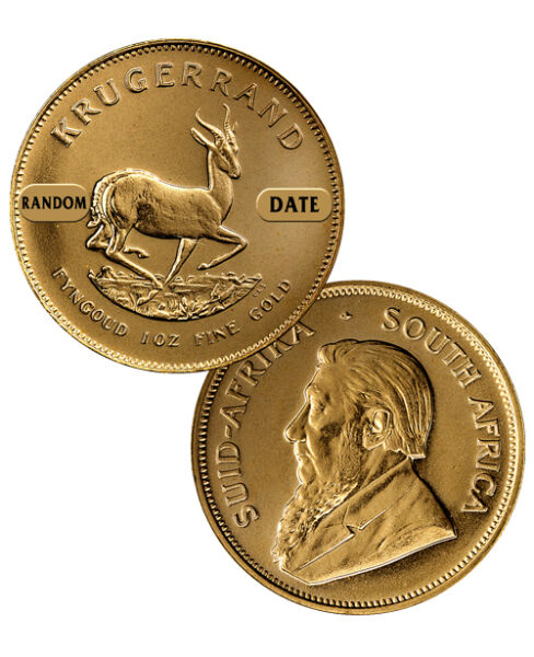 Random Date South Africa 1 oz Gold Krugerrand Coin SKU26054
