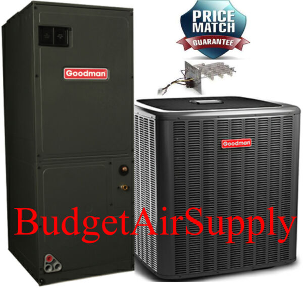 3 Ton 16 seer Goodman 2 stage UltraTech Heat Pump Variable DSZC160361+AVPTC37D14