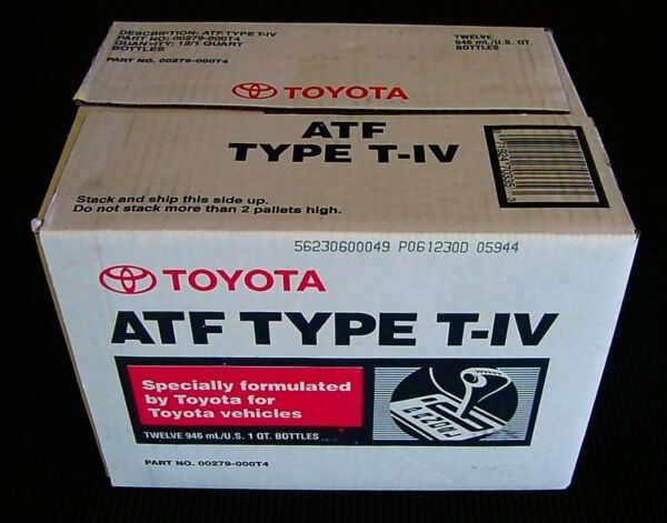 12 Quarts Toyota/Scion Automatic Transmission Fluid ATF Type 4 T4 - OEM NEW!