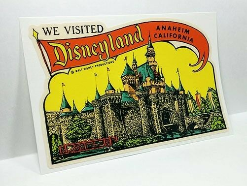 Disneyland California Vintage Style Travel Decal  Vinyl Sticker Luggage Label