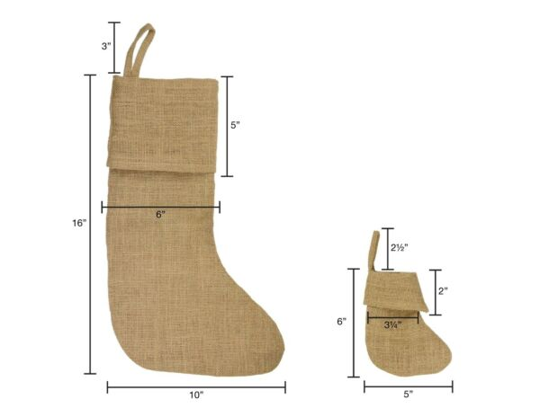 Burlap Stocking 10quot;W x 16quot;H 1 Stocking
