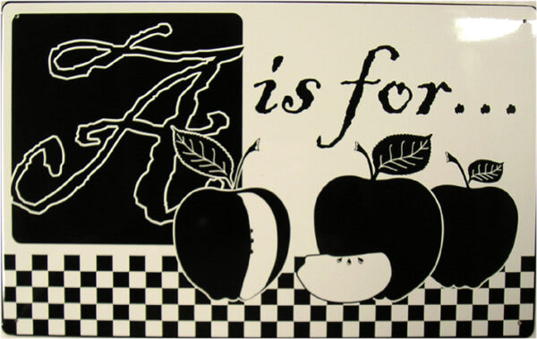 RusticVintage A is for Apple Produce Fruit Advertisement Metal Sign