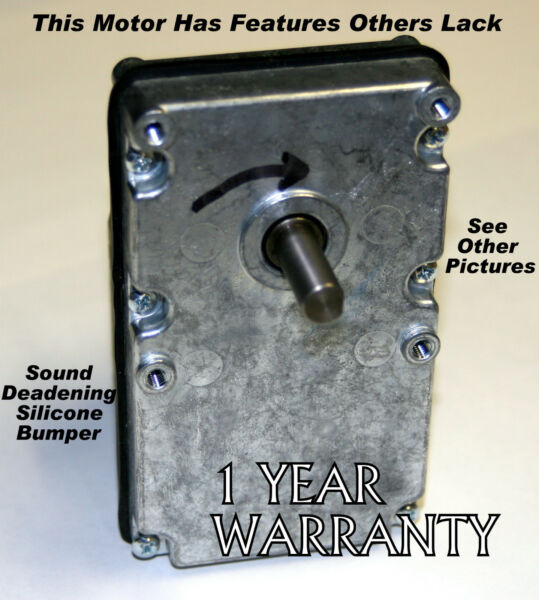 NEW WHITFIELD PELLET STOVE AUGER MOTOR WARRANTY 1 YR 12046300 ALMOST SILENT $84.35