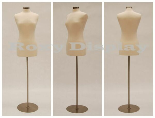 HIGH QUALITY! Size 6-8 Female Mannequin Dress Form  FWP-W+BS-04 Metal Base