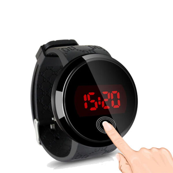 Men's LED Touch Screen Dial Sport Silicone Waterproof Digital Wrist Watch