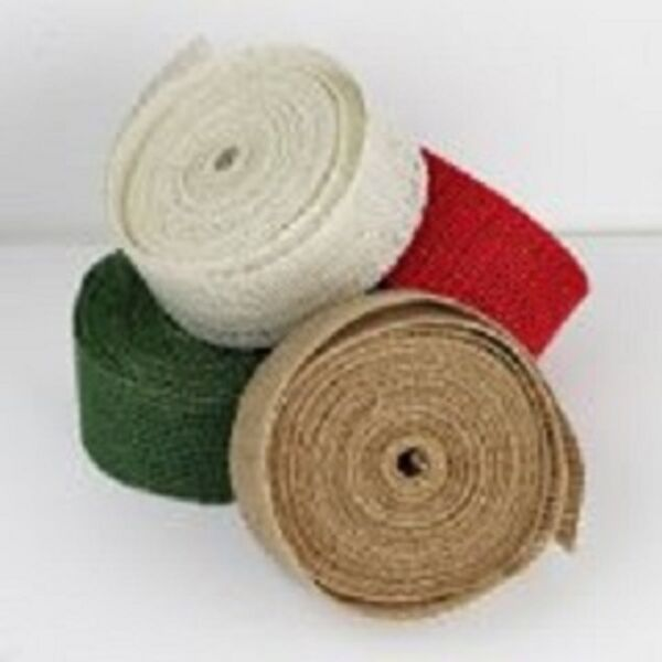 2quot; Burlap Ribbon 10 Yard Roll Available in 4 Colors