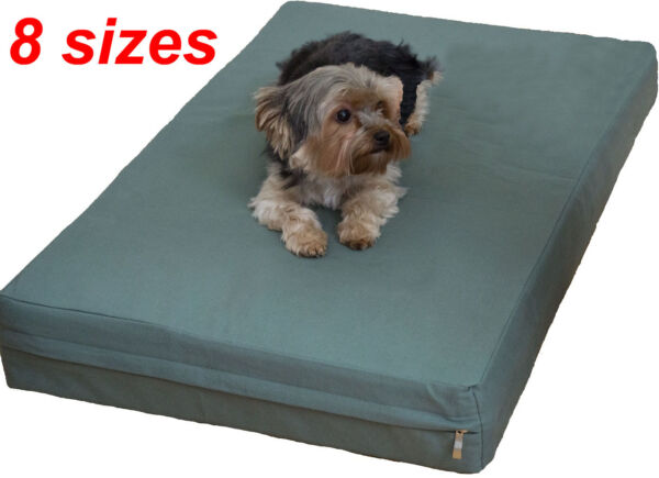 Heavy duty Canvas fabric replacement zipper cover for dog bed pet bed pad $20.99